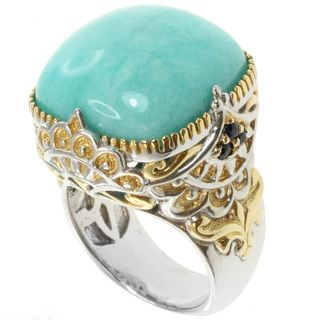 Michael Valitutti Sterling Silver ite Two Tone Ring