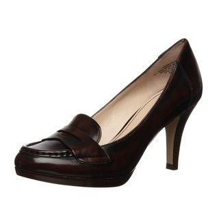 Anne Klein Womens Walnut Penny Platform Pumps