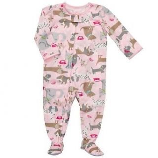 Carters Baby Girls Puppy Pajamas, Pink, Sz 24 Mos