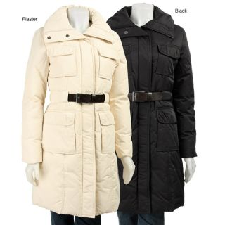 DKNY Womens Down Belted Coat