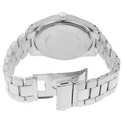 Geneva Platinum Womens Rhinestone accented Large Face Link Watch