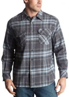 Dickies Mens Long Sleeve Brawny Flannel,Charcoal,4X