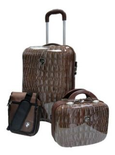 Heys USA Luggage Weekender 3 Piece Set, Croco, 21 Inch