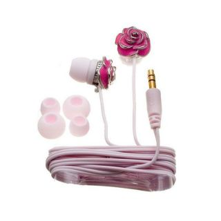 Nemo Digital NF35454 EPK Pink Enamel Flower Earbud Headphones