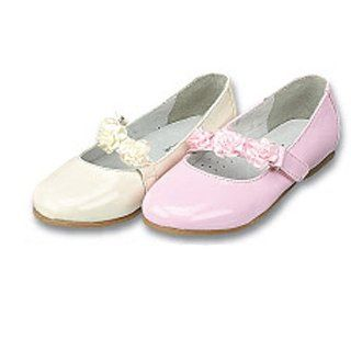 Toddler Little Girls Ivory Rosette Dress Shoes 5T 2 IM Link Shoes