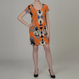 Tiana B Womens Aztec print Jersey Dress