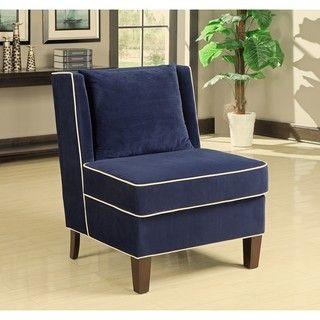 Dexter Navy Armless Chair