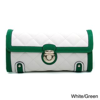 Anais Gvani Fashion Quilted Two Tone Clutch Style Wallet