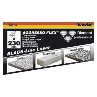 line 115 à segments soudés laser KWB   Disque diamant black line 115