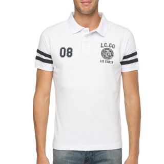 LEE COOPER Polo Homme Blanc   Achat / Vente POLO LEE COOPER Polo