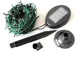 Solar 1 set 100/102 WHITE LED String Lights Outdoor 8