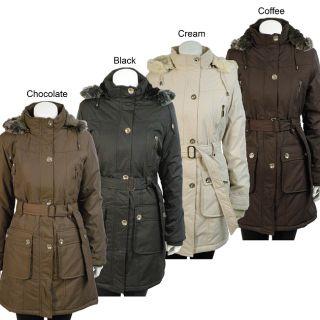 Niqi Womens Classic Faux Fur Hooded Coat Today $99.99 3.0 (5