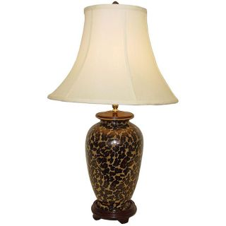 Leopard Print 1 light Porcelain Table Lamp