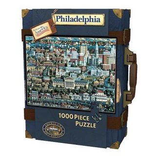 Explore America 1,000 pc Philadelphia Suitcase Puzzle