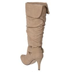 Journee Collection Womens Betsy Buckle Accent Mid calf Boots