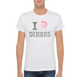 DIESEL T Shirt Ilove Homme Blanc   Achat / Vente T SHIRT DIESEL T