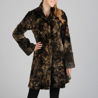 Hilary Radley Womens Snap Front Faux Fur Coat Today $142.99