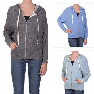 Journee Collection Juniors Zip up Dolman Sleeve Hooded Jacket