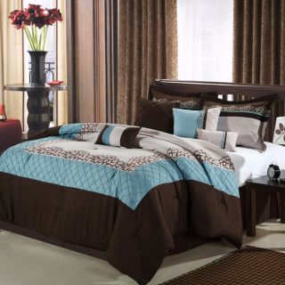 Mustang Brown 12 piece Bed In a Bag with Sheet Set