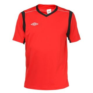 Coloris  rouge et noir. Maillot de Foot UMBRO Homme, 100 % polyester