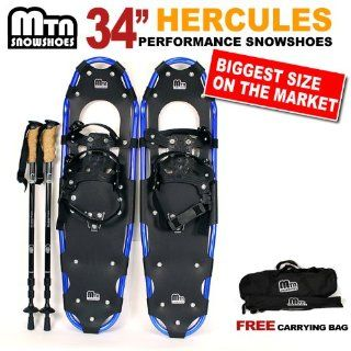 New MTN Man Woman Kid Youth 34 BLUE Snowshoes with Blue