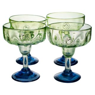 Luster Green Margarita Glass (Set of 4)