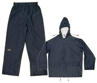 CLC Rain Wear R108L Navy Blue Polyurethane 2 Piece Suit, Large