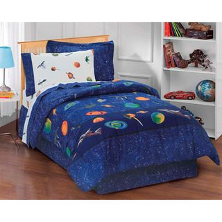 Galaxy 6 piece Space Cotton/Polyester Bed in a Bag with Sheet Set