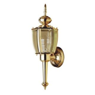 Polished Brass 1 light Outdoor Wall Sconce