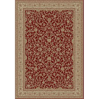 Kashmir Collection Red Area Rug (89 x 123)