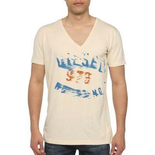 DIESEL T Shirt Off Homme Ecru   Achat / Vente T SHIRT DIESEL T Shirt