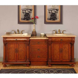 Silkroad Exclusive Mendicino Bathroom LED lighted Double Sink Vanity
