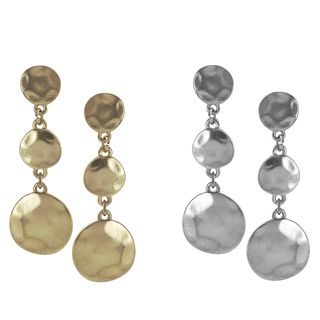 Journee Collection Metal Antique style 3 disc Dangle Earrings