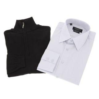 TORRENTE COUTURE Chemise et Pull Homme Gris, blanc et noir   Achat