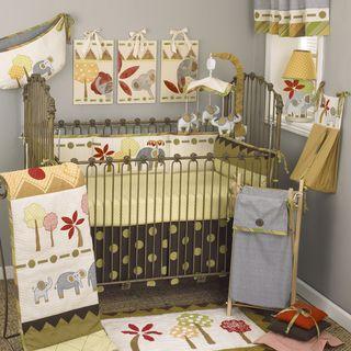 Cotton Tale Elephant Brigade11 piece Crib Bedding Set