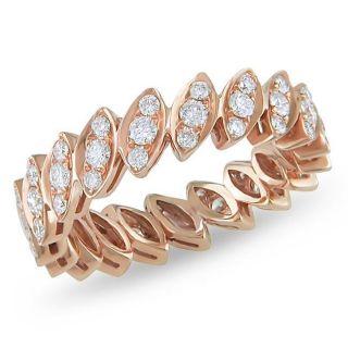 18k Pink Gold 3/4ct TDW Diamond Eternity Ring (G H, SI2)