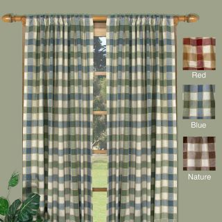 Plymouth Plaid 63 inch Woven Tailored Curtain Panels (Set of 2