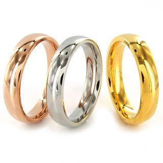 Stainless Steel Stackable Tri tone Rings