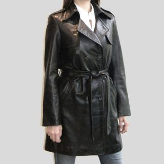 Izod Womens Belted Leather coat