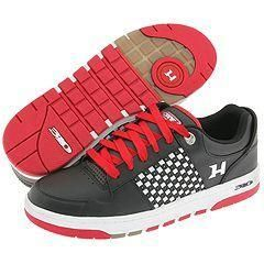 310 Motoring Hurricane II Black Leather/White Midsole/Red Outsole