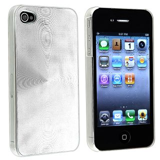 Silver Aluminum Rear Snap on Case for Apple iPhone 4 AT&T/ Verizon