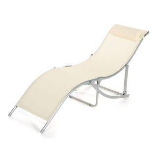 Chaise longue SIRENA Ecru   Achat / Vente CHAISE LONGUE   TRANSAT