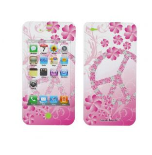 Apple iPhone 4 Flower Peace Smart Touch Shield Decal