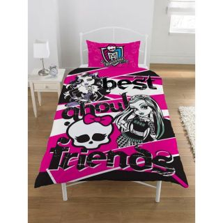 MONSTER HIGH   Parure de couette + taie doreiller. Dimension 135 cm x