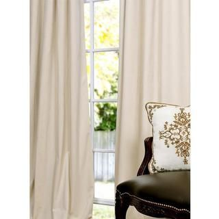 Signature Ivory Velvet 108 inch Blackout Curtain Panel