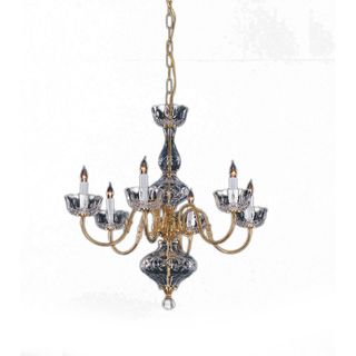Colonial 6 light Chandelier in Polished Brass