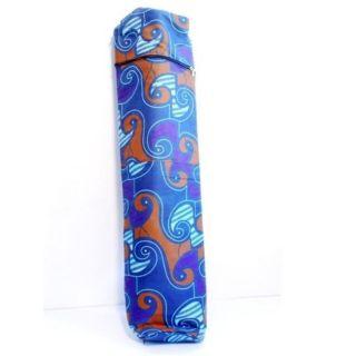 Dutch Wax Cloth Indigo and Purple Yoga Bag (Rwanda)