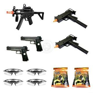 Airsoft Spring Guns M5 G SMG, 2x DeltaForce M11A1 SMGs