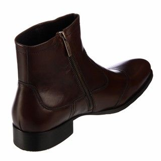 Kenneth Cole New York Mens City Bound Brown Leather Boots FINAL