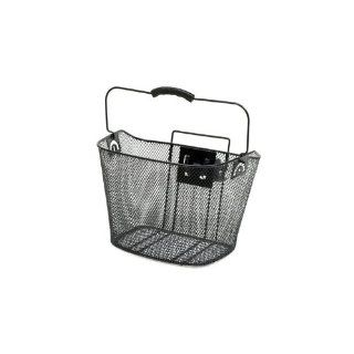 Sunlite Quick Release Front Mesh Bicycle Basket, Black